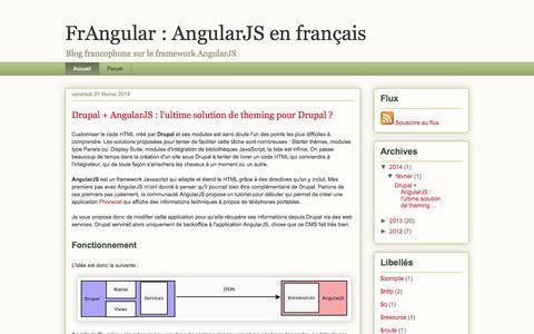 Screenshot of Home Page frangular.com - FrAngular : AngularJS en français - captured Sept. 19, 2014