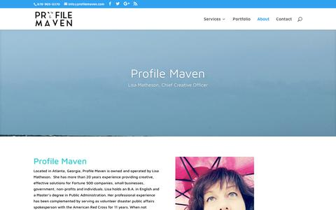 Screenshot of About Page profilemaven.com - About | Profile Maven - captured July 23, 2018