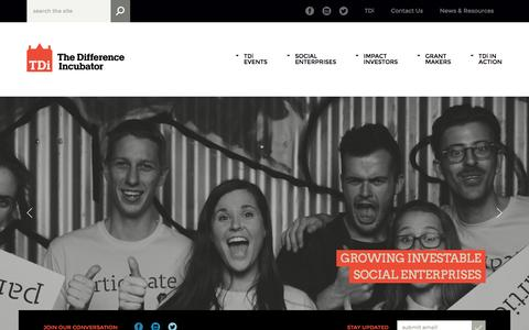 Screenshot of Team Page thedifferenceincubator.com - HOME - The Difference Incubator - captured Sept. 30, 2014