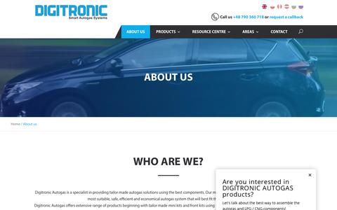 Screenshot of About Page digitronicgas.com - About us - Digitronic Autogas - captured Oct. 12, 2017