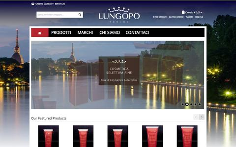 Screenshot of Home Page lungopo.com - Home page - captured Oct. 3, 2014