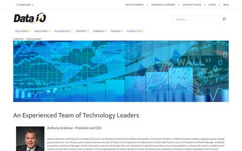 Screenshot of Team Page dataio.com - Management - captured Aug. 5, 2018