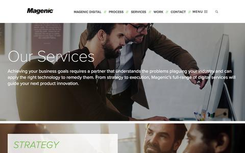 Screenshot of Services Page Team Page magenic.com - Business Solutions & Problems We Solve| Magenic - captured July 25, 2018