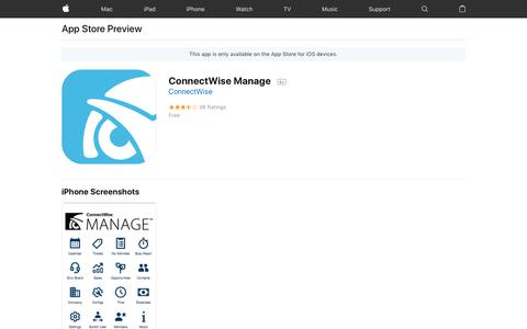 ConnectWise Manage on the App Store