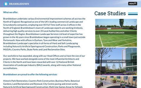 Screenshot of Case Studies Page brambledown.com - Brambledown - captured Oct. 6, 2018
