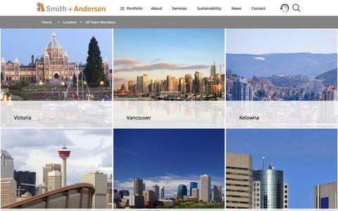 Screenshot of Team Page smithandandersen.com - Team | Smith + Andersen - captured Nov. 6, 2016