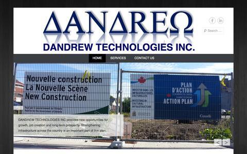 Screenshot of Home Page Menu Page dandrewtech.ca - DANDREW TECHNOLOGIES INC. - captured Oct. 5, 2014