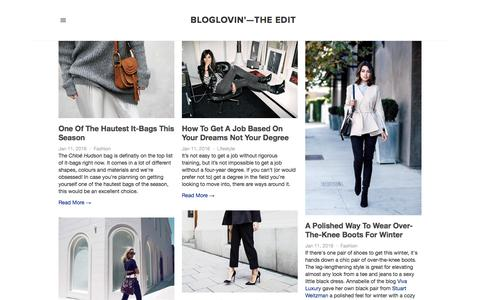 Screenshot of Blog bloglovin.com - Bloglovin'—the Edit - captured Jan. 11, 2016