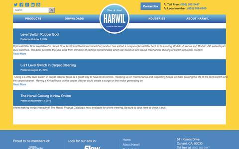 Screenshot of Press Page harwil.com - News - Harwil - captured July 19, 2017