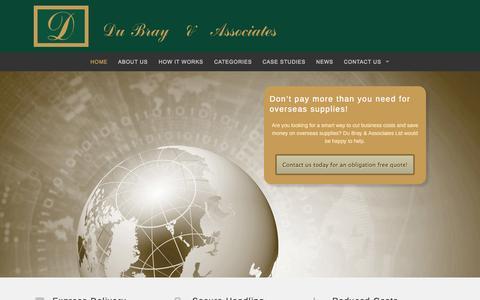 Screenshot of Home Page dubray.com - Direct International Sales   Du Bray & Associates - captured Oct. 5, 2014