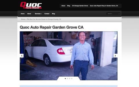 The Best Car Service Center in Orange County, CA