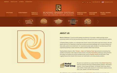 Screenshot of About Page readingbakery.com - Reading Bakery Systems History, Bakery Equipment and Bakery Systems - captured Nov. 2, 2017