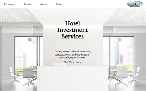 Screenshot of Home Page his-corp.com - Hotel Management | United States | Hotel Investment Services, Inc. - captured Sept. 30, 2018