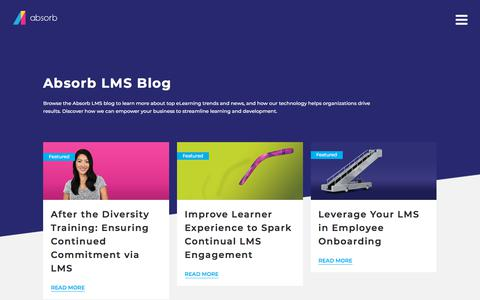 Screenshot of Blog absorblms.com - Absorb LMS Blog - eLearning Trends and News | Absorb LMS Software - captured Jan. 11, 2020