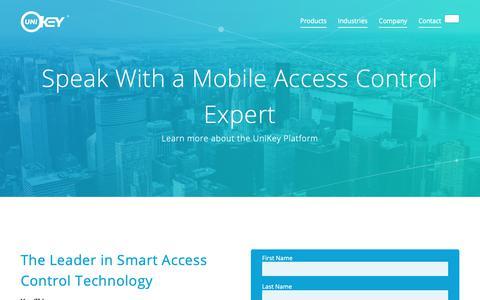 Screenshot of Contact Page unikey.com - Request Info | UniKey - captured Sept. 29, 2018
