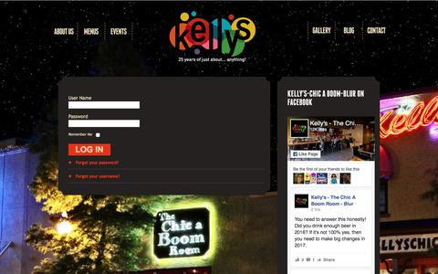 Screenshot of Login Page kellyschicaboom.com - Kelly's Chic a Boom Blur: Login - captured Jan. 1, 2017