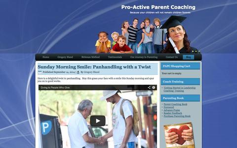 Screenshot of Blog pro-activeparentcoaching.com - Blog | Pro-Active Parent Coaching - captured Sept. 30, 2014