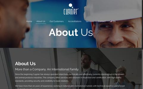 Screenshot of About Page cugnier.com - About Us – Cugnier - captured Nov. 11, 2018