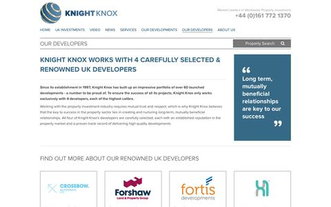 Screenshot of Developers Page knightknox.com - Property Developers - Knight Knox - captured Feb. 12, 2016