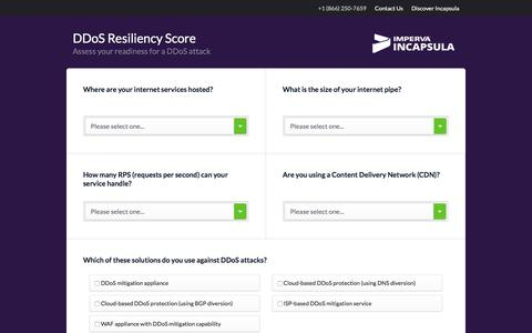 DDoS Resiliency Score (DRS) Calculator | Incapsula