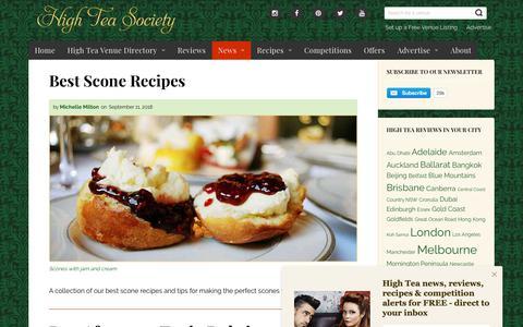 Screenshot of Press Page highteasociety.com - News - High Tea Society - captured Sept. 28, 2018
