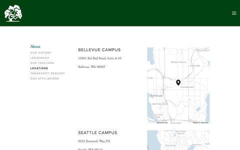 Screenshot of Locations Page dartmoorschool.org - Locations — Dartmoor School - captured Aug. 5, 2018