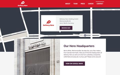 Contact : Delivery Hero - The Easiest Way to Your Favourite Food