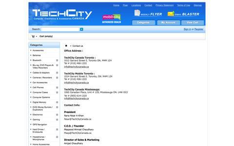 Screenshot of Locations Page techcitycanada.ca - Contact us - TechCity Canada - captured May 28, 2016