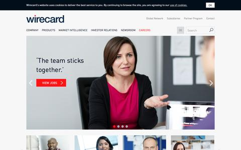 Screenshot of Jobs Page wirecard.com - WIRECARD: Careers, job opportunities and working culture at Wirecard - captured Oct. 30, 2016