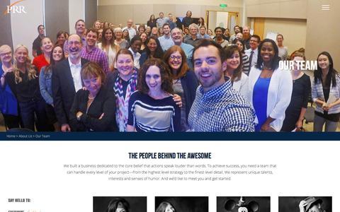 Screenshot of Team Page prrbiz.com - Our Team | PRR Biz - captured Oct. 12, 2016