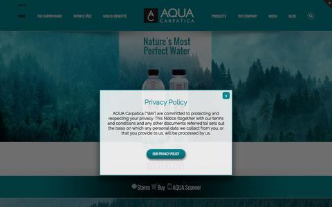 Screenshot of Home Page aquacarpatica.com - AQUA Carpatica – Experience Waterlove - captured July 28, 2018
