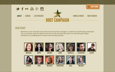 Screenshot of Team Page bootcampaign.com - Team | Boot Campaign - captured Sept. 30, 2014