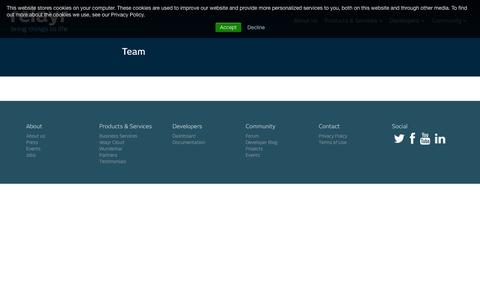 Screenshot of Team Page relayr.io - Team | relayr - captured July 3, 2015