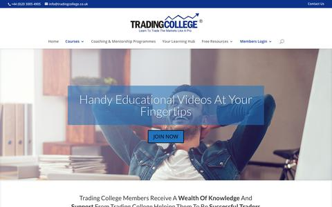 Screenshot of Signup Page tradingcollege.co.uk - Join The Trading College Membership For Only £47 Per Month - captured June 29, 2017