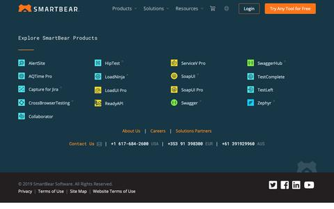 Screenshot of Case Studies Page smartbear.com - Software Testing and Monitoring Resources | SmartBear - captured June 21, 2019