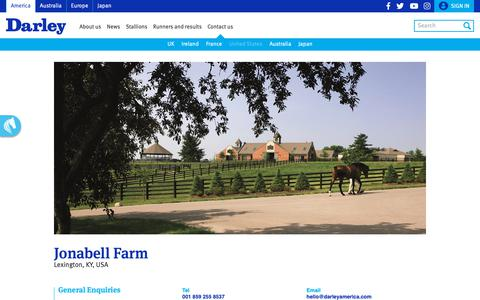 Screenshot of Contact Page darleyamerica.com - Darley's Kentucky thoroughbred racehorse stud farms in America - captured Oct. 7, 2018