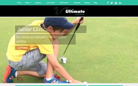 Screenshot of Home Page theultimategolfschool.net - Burlington VT Golf Lessons at The Ultimate Golf School - captured Feb. 28, 2016