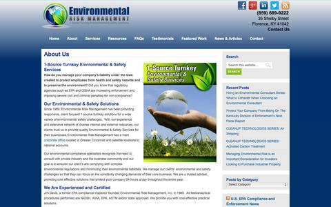 Screenshot of About Page envrisk.com - About Us | Environmental Risk Management - captured Oct. 2, 2014