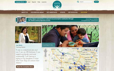 Screenshot of Contact Page Locations Page nvfs.org - Contact Us (Northern Virginia Family Service) - captured Oct. 26, 2014