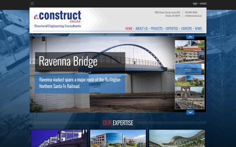Screenshot of Home Page econstruct.us - Home - eConstruct, USA.LLC - Omaha, NE - captured Nov. 13, 2016