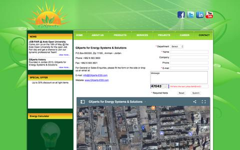 Screenshot of Contact Page gxperts-ess.com - GXperts for Energy Systems & Solutions - CONTACT - captured July 13, 2017