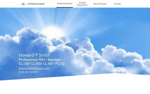 Screenshot of Home Page smithjet.com - Professional Pilot - captured Dec. 9, 2016