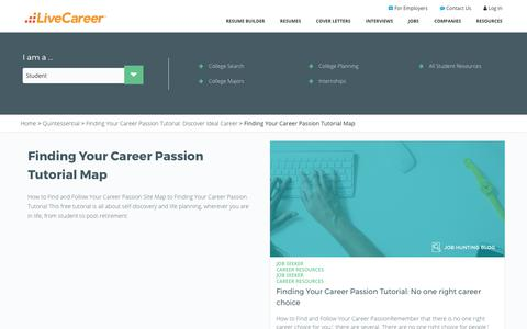 Screenshot of Maps & Directions Page livecareer.com - Finding Your Career Passion Tutorial Map | LiveCareer - captured Sept. 1, 2017