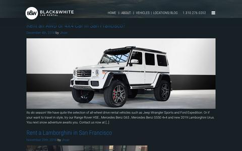 Screenshot of Blog bwrentacar.com - Blog | Black & White Car Rental - captured Dec. 12, 2018