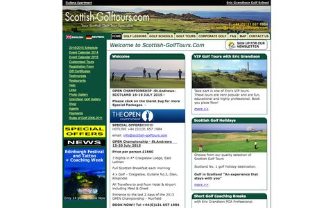 Screenshot of Home Page scottish-golftours.com - Scottish Golf Tours - Home Page - captured Oct. 6, 2014