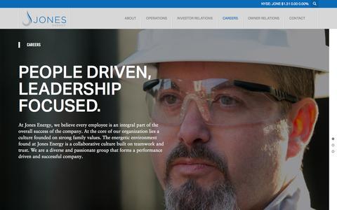 Screenshot of Jobs Page jonesenergy.com - Careers -  Jones Energy - captured Feb. 11, 2016
