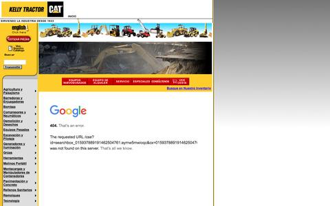 Screenshot of Landing Page kellytractor.com - Kelly Tractor Co. Busqueda - captured Aug. 12, 2016