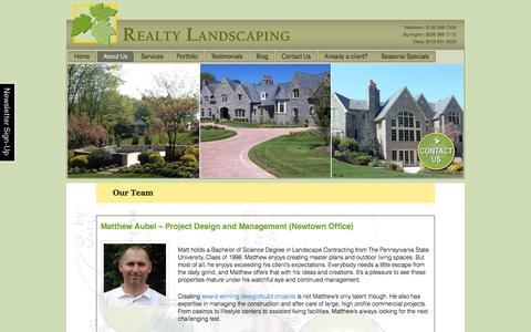 Screenshot of Team Page realtylandscaping.com - Our Highly Trained Team of Landscape Designers and Creators | - captured Oct. 7, 2014