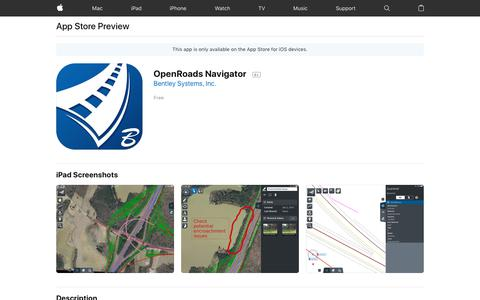 OpenRoads Navigator on the App Store