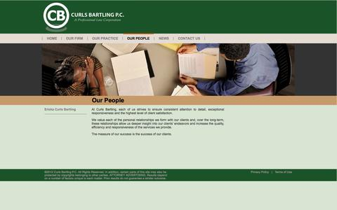 Screenshot of Team Page curlsbartling.com - Our People | Curls Bartling P.C. - captured Oct. 3, 2014